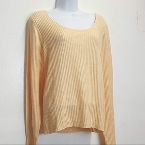 Eileen Fisher Orange Thin Knit sweater